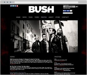 BUSH Band Website