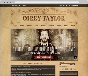 Corey Taylor Musician Website