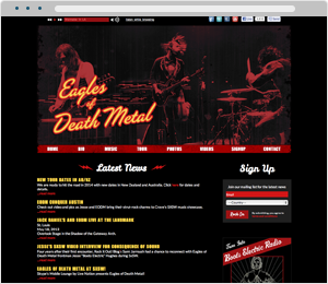 Eagles of Death Metal Bad Website