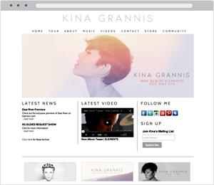 Kina Grannis Musician Website